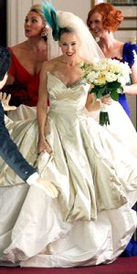 satc. courtesy instyle. vivienne westwood wedding dress.