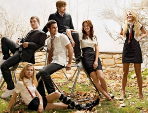 cast of the cw's gossip girl. photo courtesy tv guide.