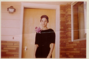 my grandmother's sister, elaine. i love the giant flower.