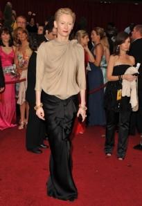 I adore Tilda Swinton, always. She is so classic. Lanvin blouse. Photo Courtesy WWD.