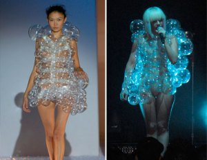 L: Photo Courtesy Hussein Chalayan R: Photo Courtesy Splash News